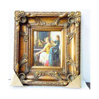Genuine Oil Painting with Solid Wood Craft Frame