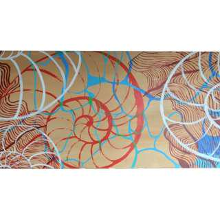 "Wall Decoration / Painting / ""Spiral #1"""