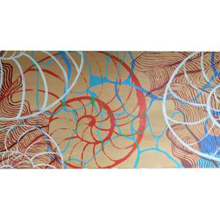 "Wall Decoration / Painting / ""Spiral #II"""
