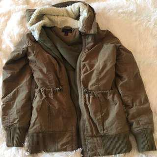 Green sherpa/parka jacket