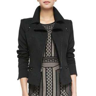 BCBG Maxazria Black moto jacket blazer XS