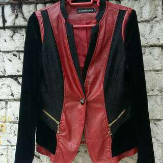 Red and Black Leather Jacket (repriced)