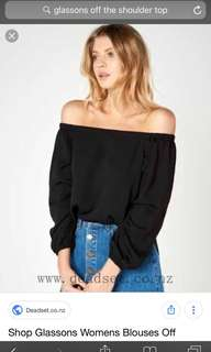 Glassons WHITE off the shoulder