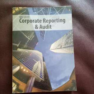 Corporate Reporting And Audit