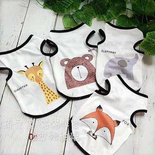 (PO) Pet Summer Fashion Sleeveless Animal Design Top