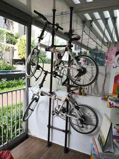 Two Bicycles with bicycle stand
