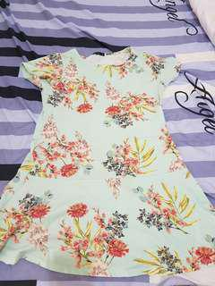 Cotton On Floral Turquoise Dress
