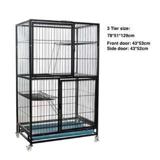 🚚 Promotion - Side door Premium 2 way use with side door Cat Chinchilla Cage /  Condo with full size front door