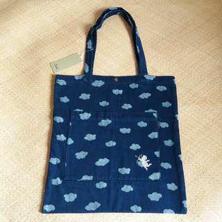 日本品牌 Suk 牛仔布環保袋 denim Tote Bag