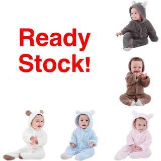 READY STOCK Baby Bear Jumpsuit