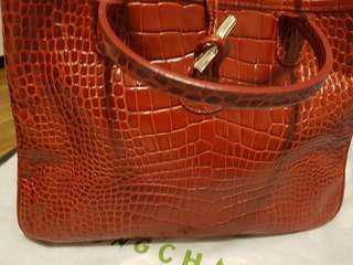 Longchamp croc-embossed bag