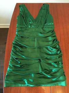 Emerald Green Party dress Large