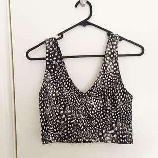 TopShop Size 8 Animal Print Crop Top