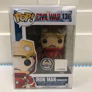 Funko Pop Iron Man unmasked bigboys