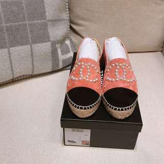 CHANEL 鉛筆鞋/ 38