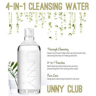 UNNY CLUB CLEANSING WATER MAKEUP REMOVER