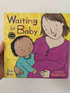 Waiting for baby, sibling book, siblings, little brother, new baby, book, children book, Rachel fuller, child's play, pregnancy, maternity