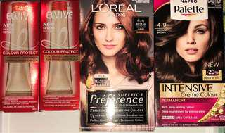 2x BRUNETTE COLOURS, CONDITIONERS & HAIR OIL VALUE PACK