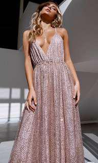 Formal maxi dress rose gold