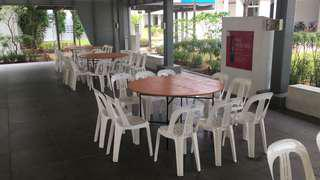 5ft round tables for rent