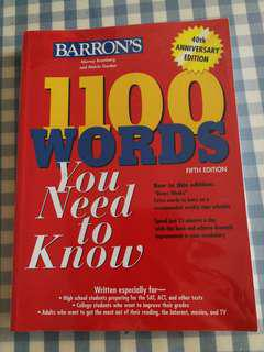 1100 words you need to know 40th Anniversary Edition
