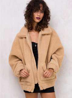 I am gia pixie coat size s camel swap