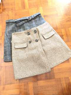 Brown and Dark grey skirt