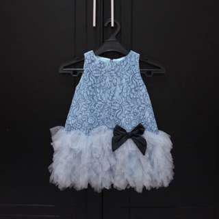 Kakapo Blue Lacey Dress
