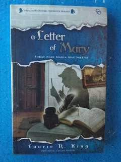 Novel A Letter of Mary by Laurie R King Russell-Sherlock Holmes