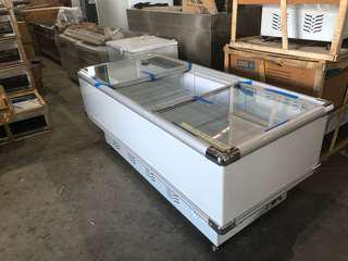 Island display freezer