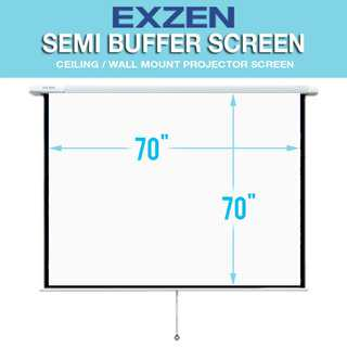 SALE! [EXZEN] Semi Buffer Manual Projector Screen