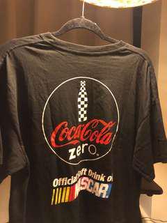 NASCAR Coke Zero black tee median