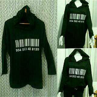 Oversized barcode jacket