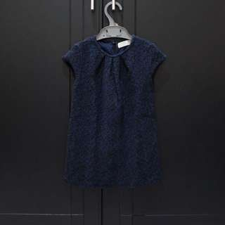 Zara Kids Bedazzled Dark Blue Dress