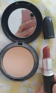 MAC studio fix plus foundation NC 40 + MAC lipstick matte taupe 09 original