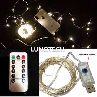 10M USB Fairy Lights w/ Remote Control