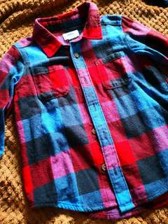 OLD NAVY flannel polo