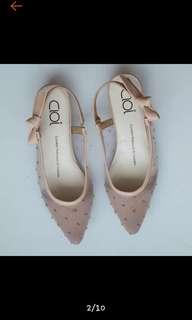 Cloi flat shoes wanita warna mocca