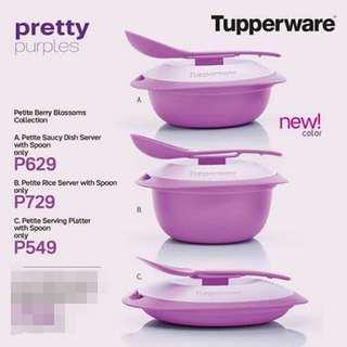 Tupperware Promo Petite Berry Blossoms Server