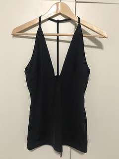 Black plunge kookai top