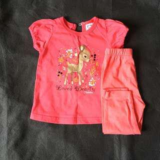 Baby girl one set tshirt