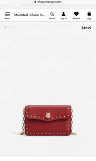 mango/ MNG red wolf small bag