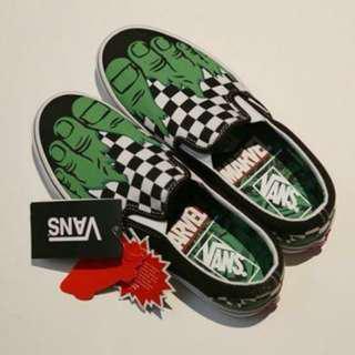 🚚 VANS x MARVEL 漫威綠巨人浩克懶人鞋 24.5號 韓國代購現貨