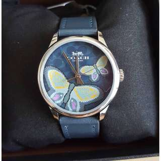 NEW COACH RUBY WATCH NAVY BUTTERFLY