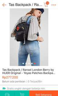 (re-price) ransel patches london berry