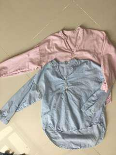 Cotton casual Korean-style shirt