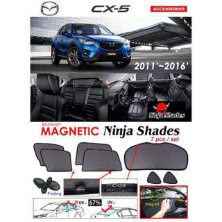 Mazda CX5 2011 - 2016 Magnetic Ninja Sun Shade (7pcs/set) Premium Quality