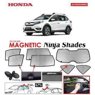 Honda BR-V 2016 - 2018 Magnetic Ninja Sun Shade (7pcs/set) Premium Quality