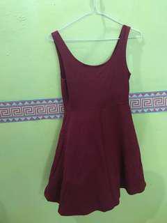 Montifs Maroon Dress