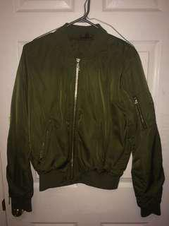 TOPSHOP ARMY GREEN BOMBER JACKET